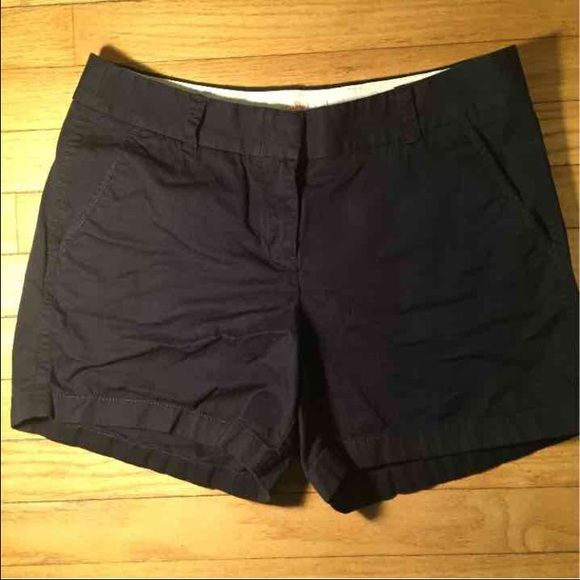 J Crew Chino Shorts Sz 6 Navy Blue Perfect condition size 6 J. Crew 100% cotton Chino Broken-In J. Crew Shorts