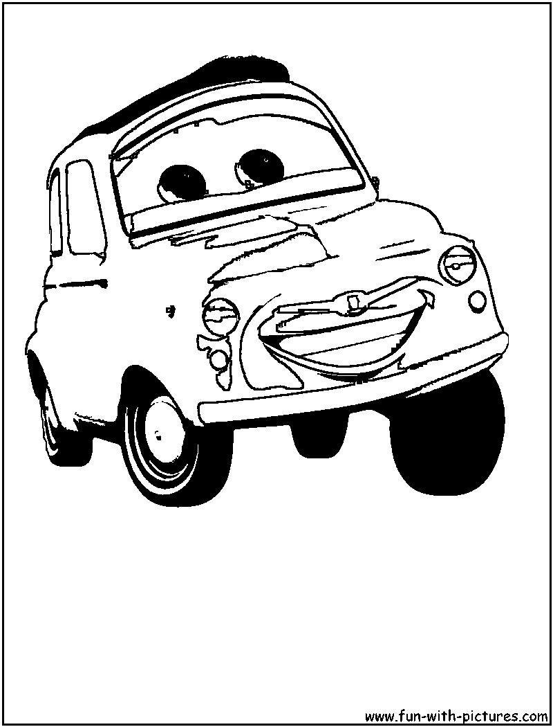 Disney Cars Printable Coloring