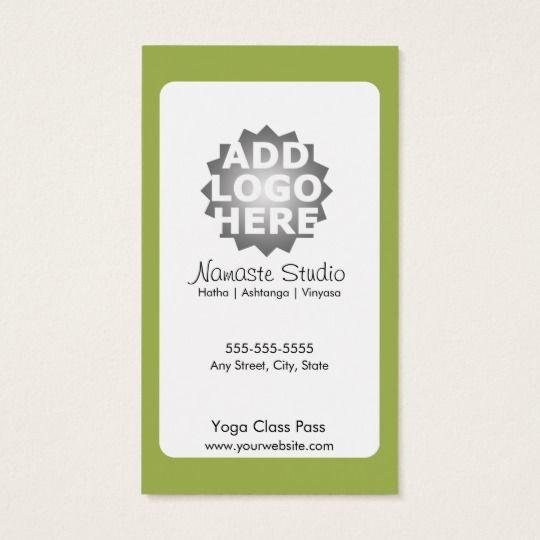 Yoga Business Card 10 Class Pass Zazzle Com Yoga Business Yoga Instructor Business Card Fitness Business Card