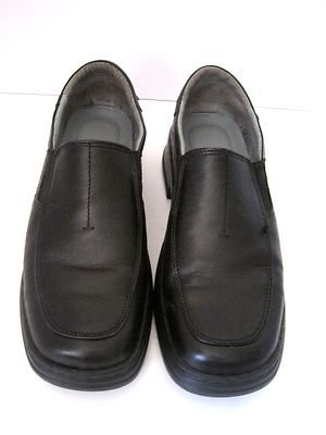 josef seibel dress casual shoes leather black mens size 42