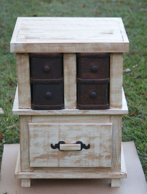 Farmhouse Style Side Table by CLPearsonDesigns on Etsy