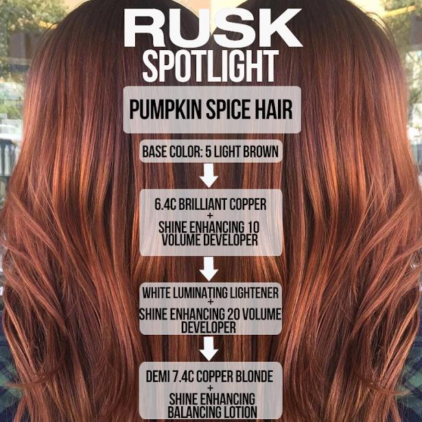 Pin By Rusk On Rusk Formulas Hair Color Formulas Pumpkin Spice Hair Hair Color
