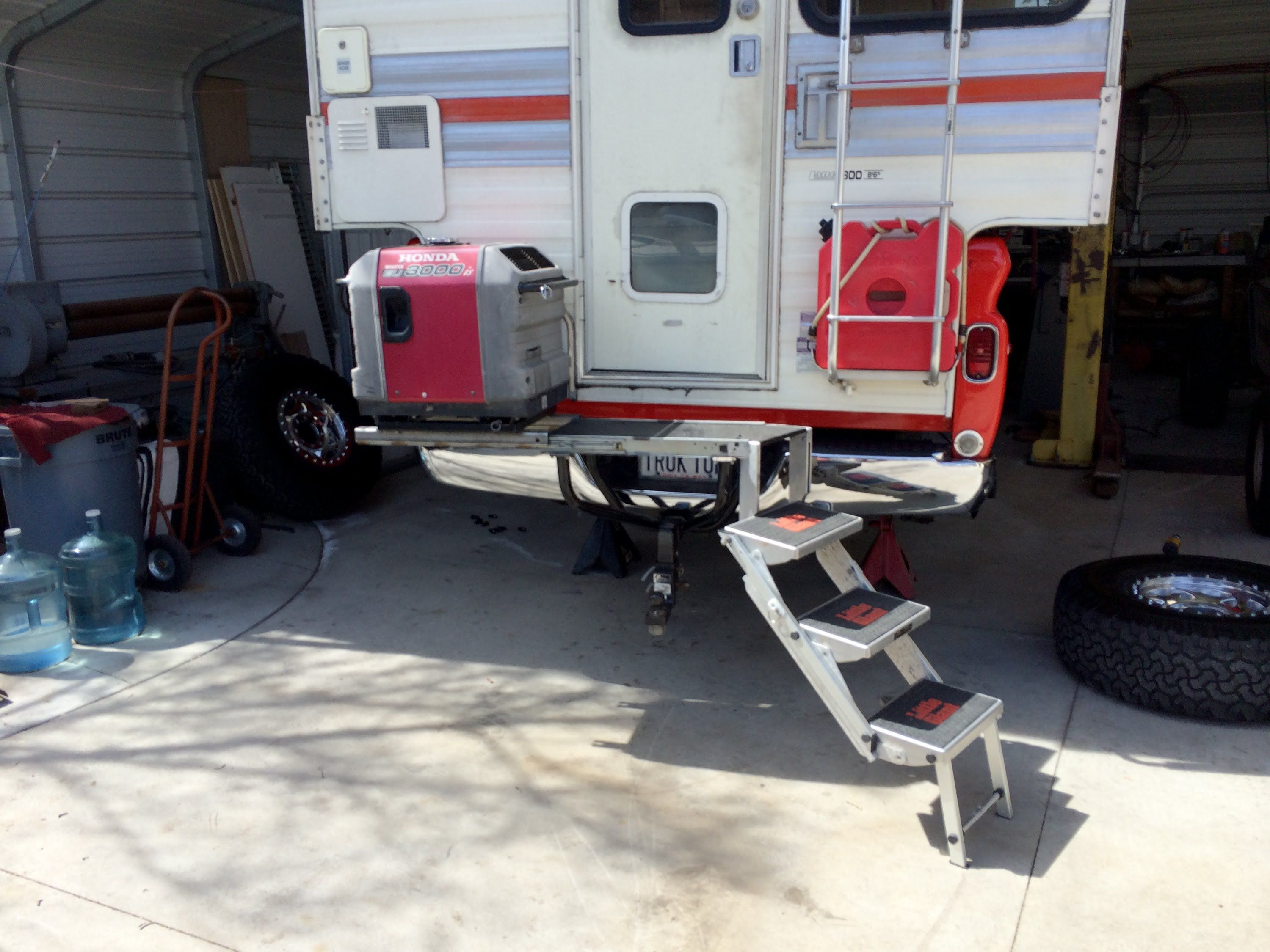 Image result for hitch mounted cargo stairs camper steps