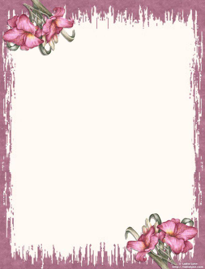 papier lettre fleurs imprimer gratuitement bordes marcos y etiquetas pinterest. Black Bedroom Furniture Sets. Home Design Ideas