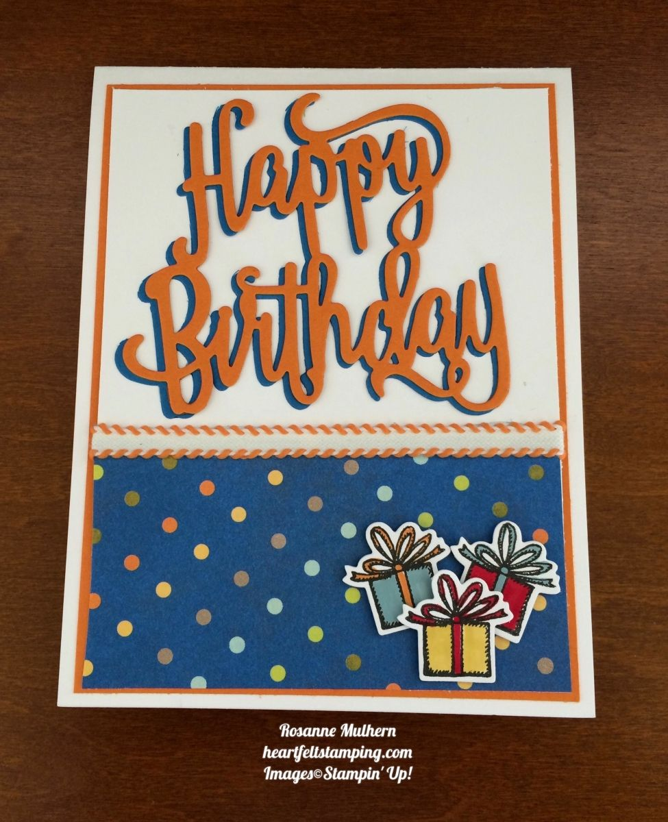 Stampin Up Happy Birthday Delivery Birthday Cards Idea