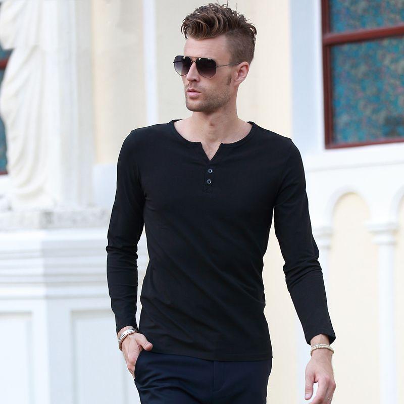 Hot Sale Mens Sexy Classic Hitting Scene Deep V Neck T Shirt Men Long Sleeve T-Shirts Slim Fit Casual Clothes Men's Clothing♦️ B E S T Online Marketplace - SaleVenue ♦️👉🏿 http://www.salevenue.co.uk/products/hot-sale-mens-sexy-classic-hitting-scene-deep-v-neck-t-shirt-men-long-sleeve-t-shirts-slim-fit-casual-clothes-mens-clothing/ US $9.67