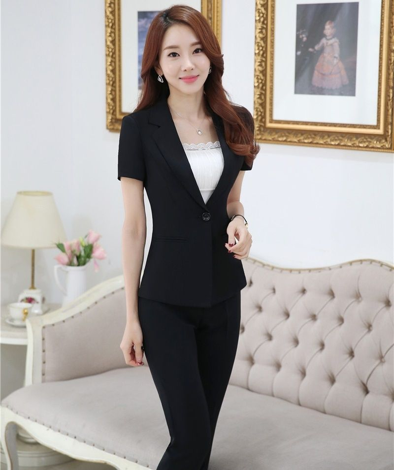 Plus Size 4xl Professional Business Suits Jackets And Pants Female