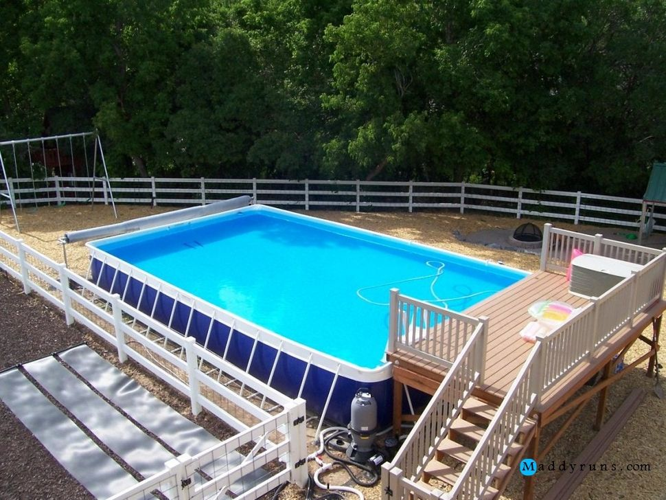 Swimming pool picturesque portable kids swimming pool for Portable above ground swimming pools