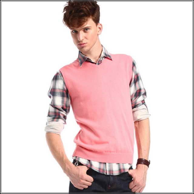 Pink Sweater Vest For Men | Places to Visit | Pinterest | Pink ...