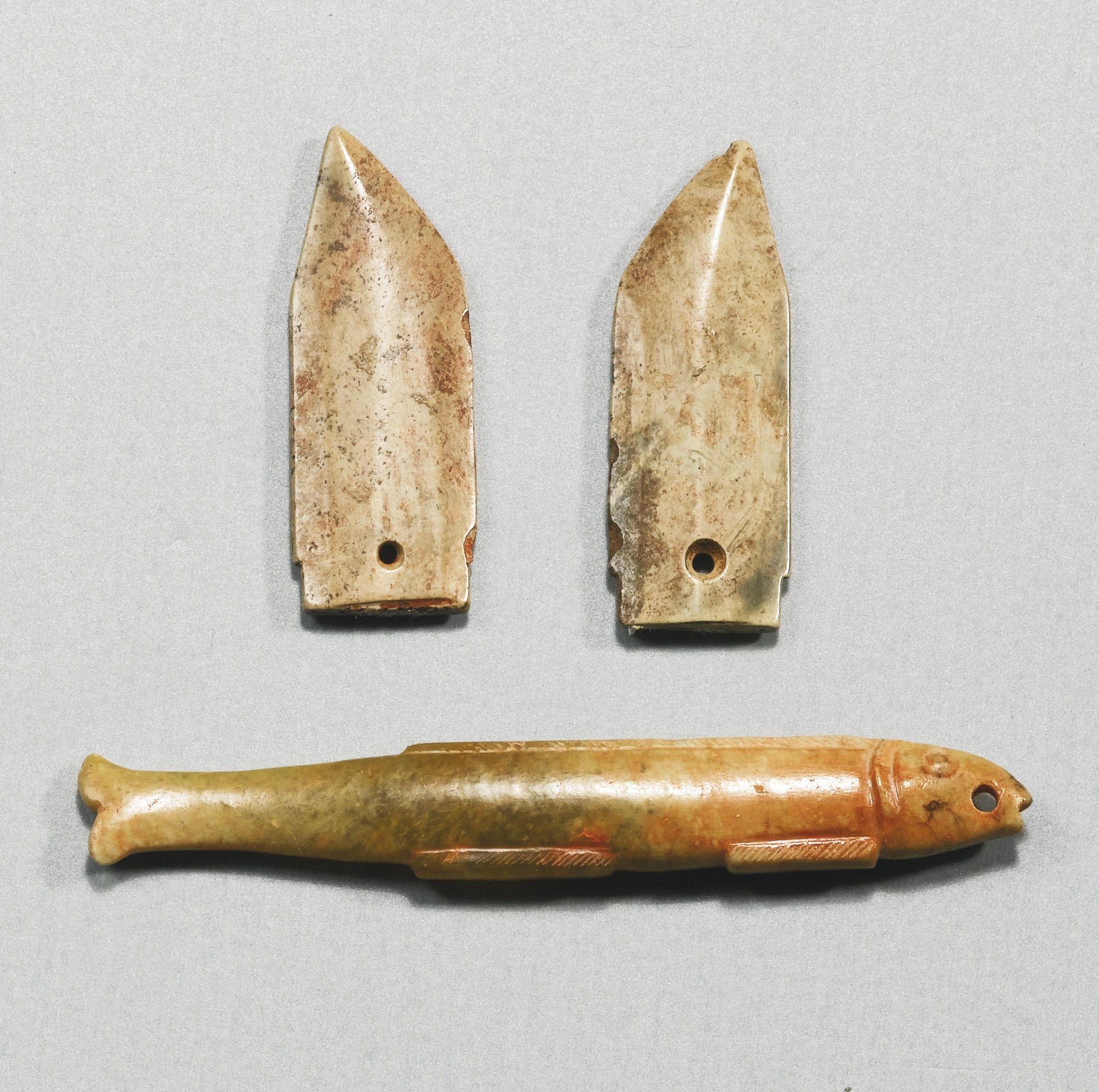 Three jade pendants shang to western zhou dynasty ca 11th century three jade pendants shang to western zhou dynasty ca 11th century 771 buycottarizona Choice Image