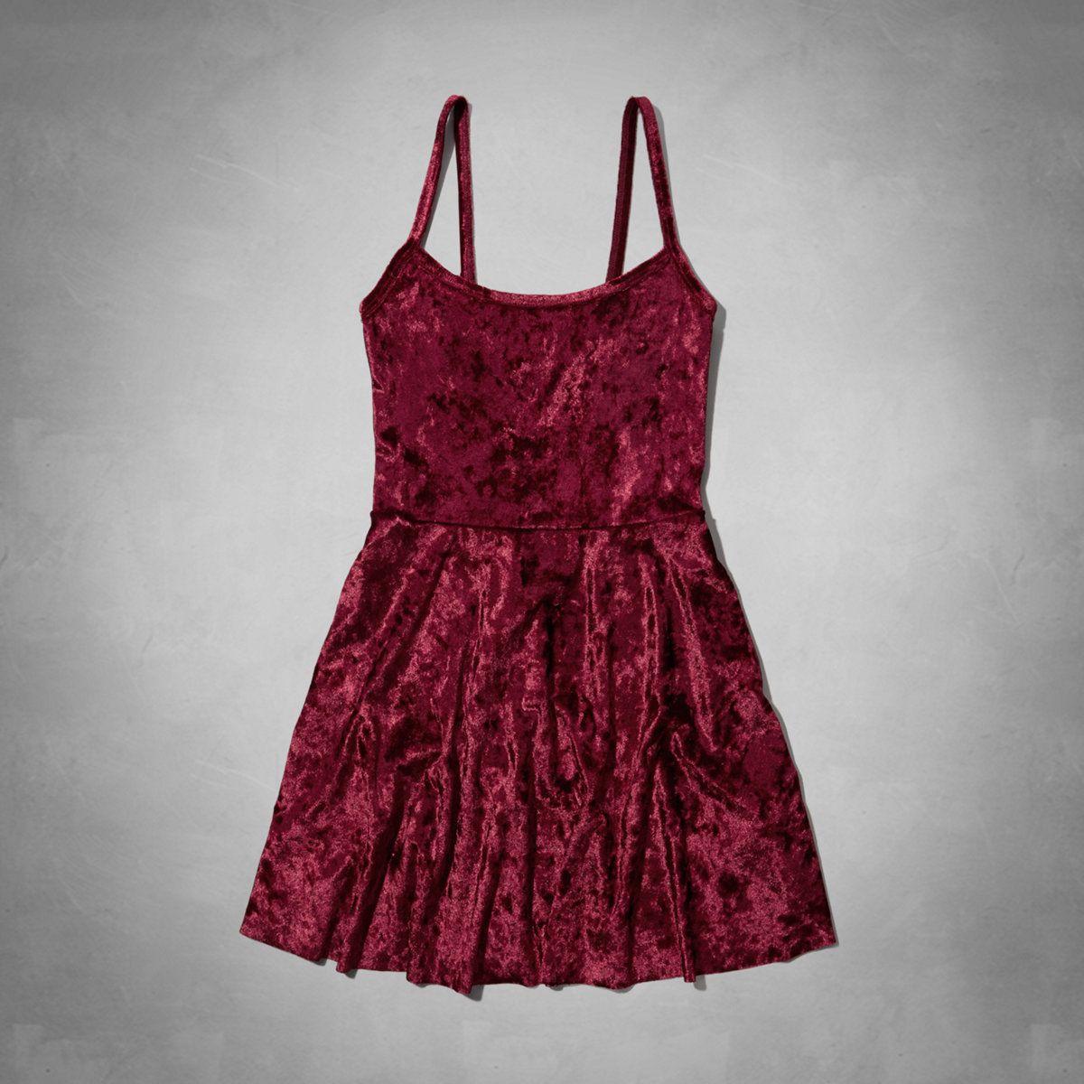 girls velvet skater dress | abercrombiekids.com