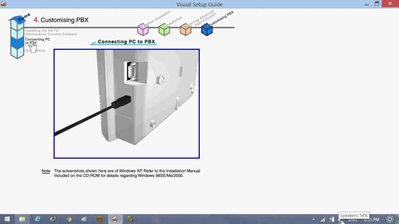 Kx Tes824 Installation Initial Setting Part 1 With Images