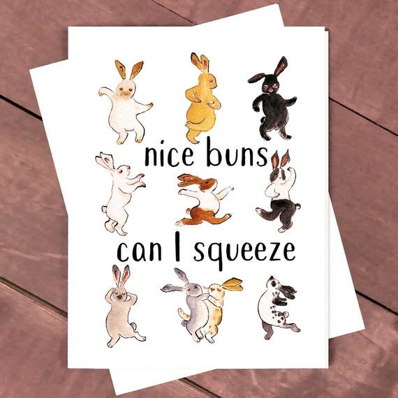 Photo of Nice Buns Can I Squeeze Funny Valentines Day Card For Him, Naughty Love Card For Girlfriend, Sexy Bunny Love Card For Husband, Butt Cards