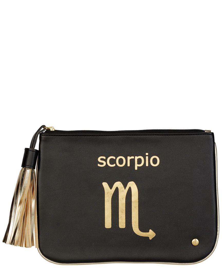 Stephanie Johnson Zodiac Scorpio Large Flat Pouch Cosmetic Bag Is On Rue It Now