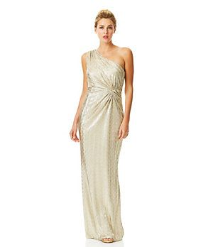 Laundry by Shelli Segal Open-Back One-Shoulder Gown | Dillard's Mobile