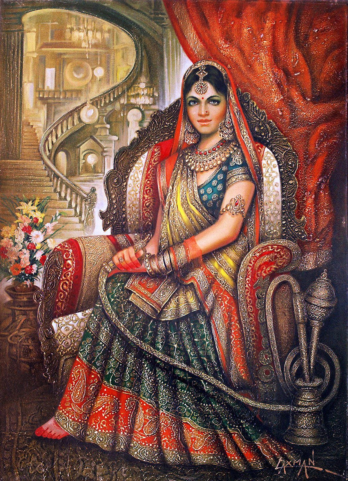 Easy Rajasthani Paintings Of Women | www.imgkid.com - The ...
