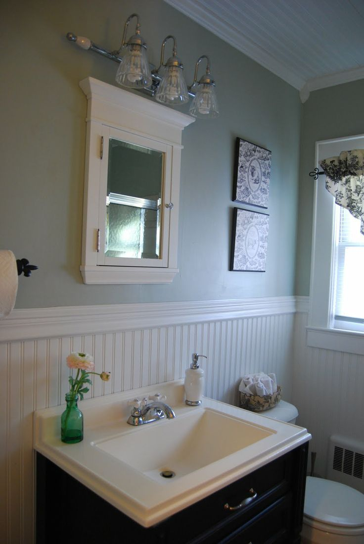 mid-century beadboard bathroom interior design feats mounting