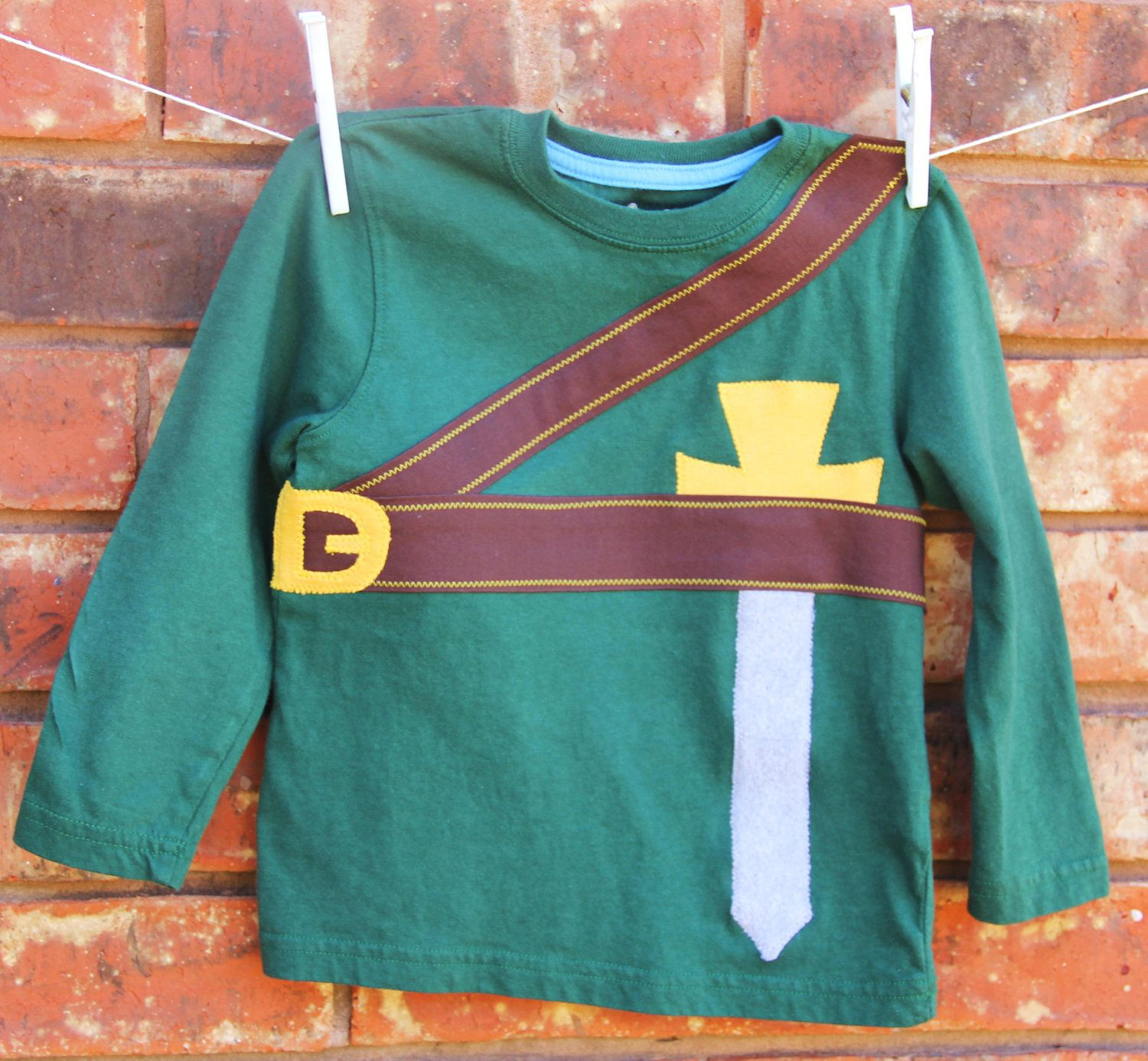 Zelda Toddler Shirt, Link Toddler Shirt, Long Sleeve Zelda Shirt. $28.00, via Etsy.