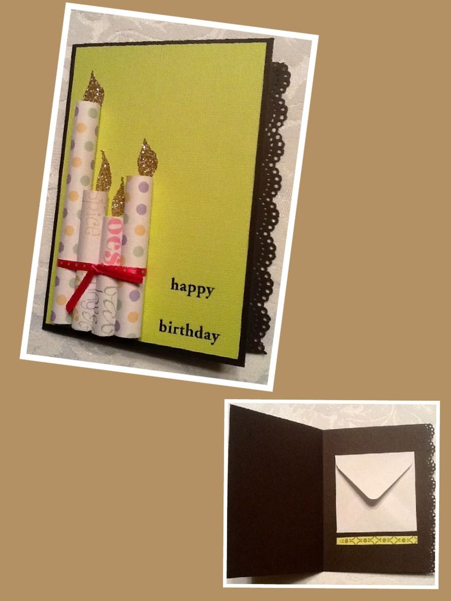 Candles give this birthday card an additional dimension