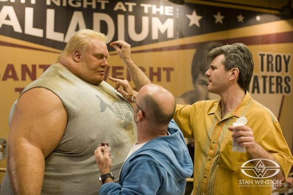 Alec Gillis Touches Up Actor Kevin Durand Wearing The Adi Created Blob Makeup On The Set Of X Men Origins Wolverin X Men Special Fx Makeup Character Creator