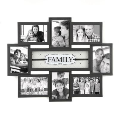 Family Shadowbox Black Collage Frame | House