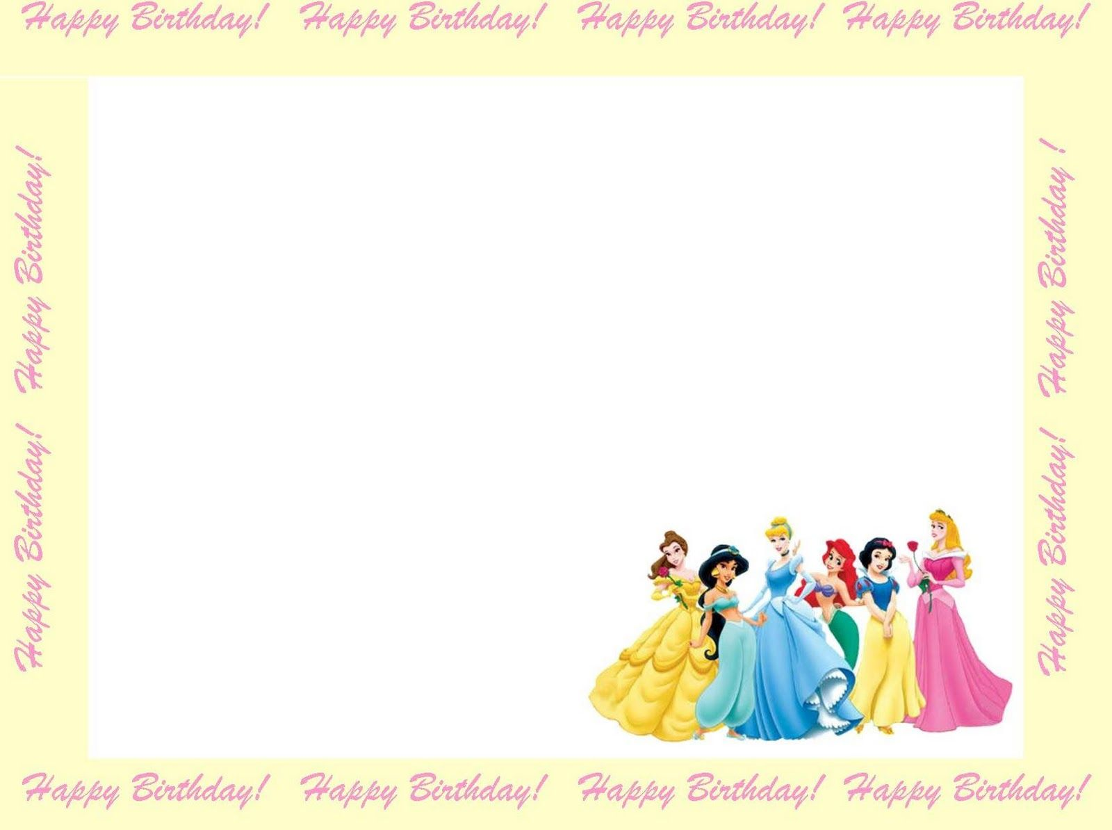 free princess invitations to print – Disney Princess Party Invitations Printable