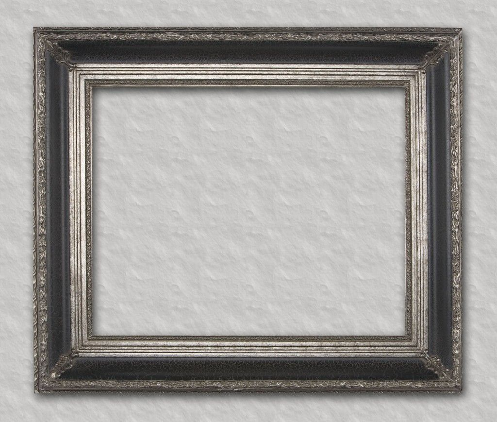 Black with silver detail readymade frame ready for your