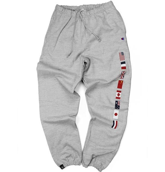 3b49d5c2 CHAMPION FLAG SWEATS (GREY) | Outfits in 2019 | How to wear ...