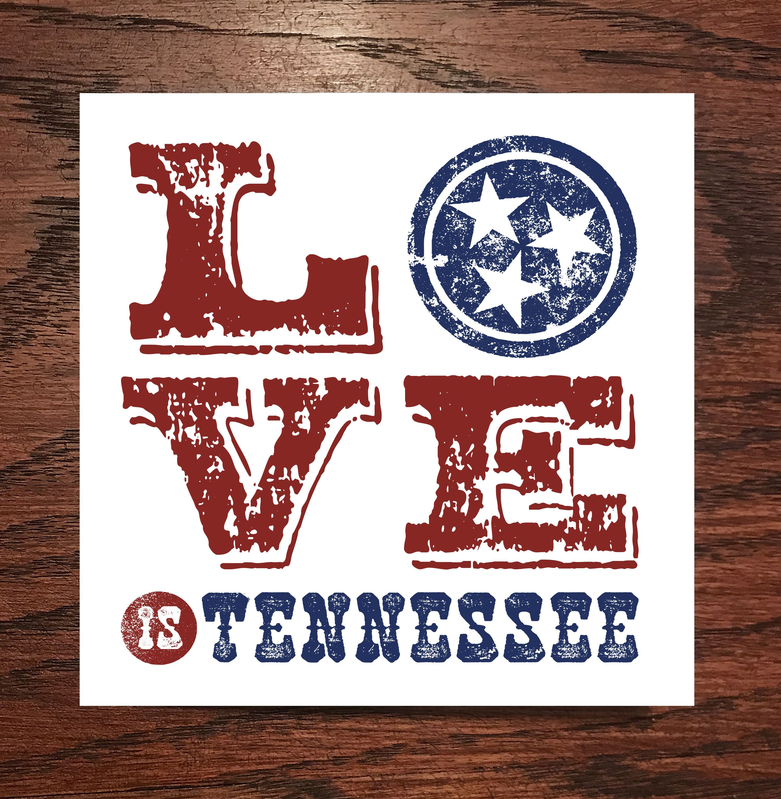 Love Is Tennessee Cards 8pk Chalkboard Quote Art Novelty Sign Cards