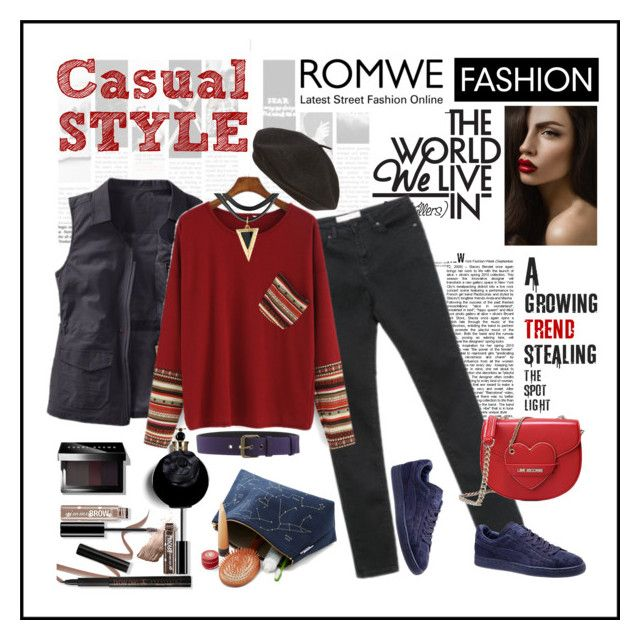 """Casual Style"" by ul-inn ❤ liked on Polyvore featuring TravelSmith, Puma, Love Moschino, Alberta Ferretti, Bobbi Brown Cosmetics, Parkhurst, Emma Watson and Valentino"