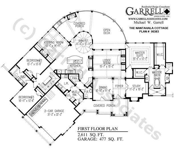 Nantahala cottage house plan 06383 1st floor plan Nantahala house plan