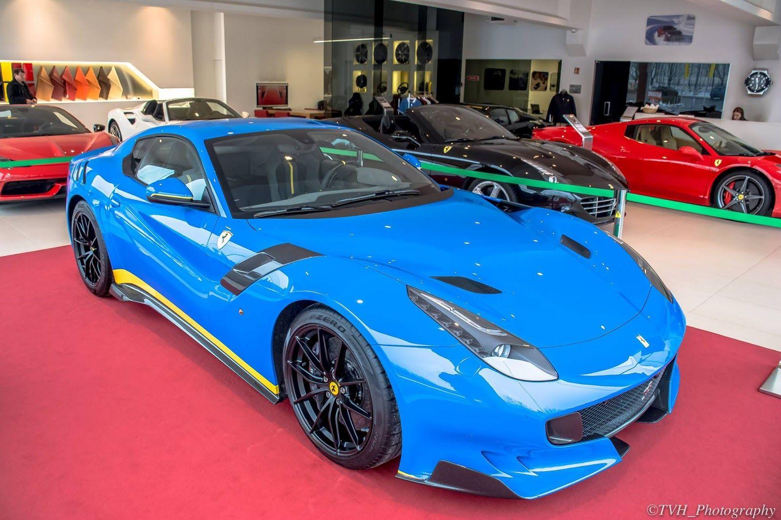 azzurro dino blue ferrari f12tdf is a 770hp smurf | automotive