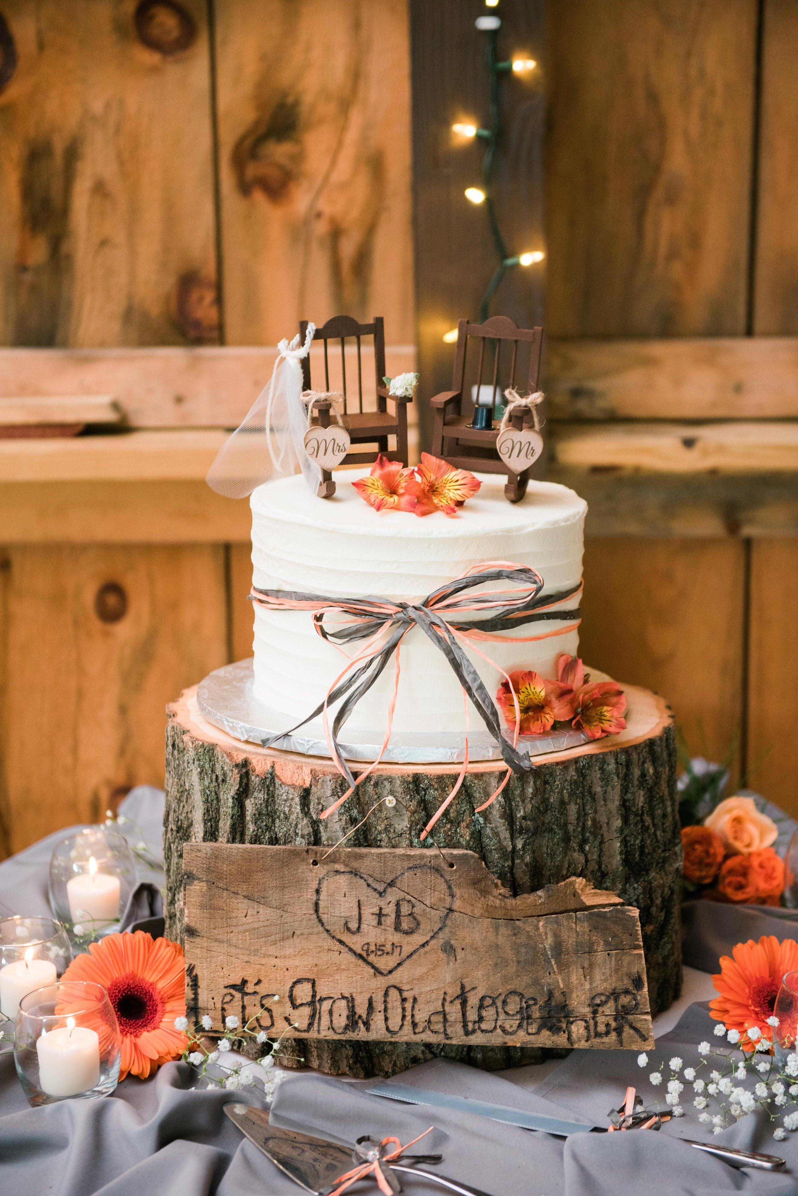 Jenn Brad Wedding Themes Rustic Wedding Cake Rustic Country