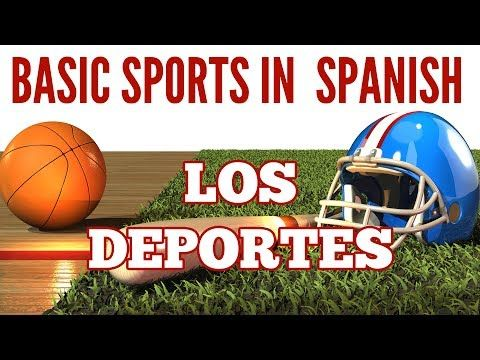 This video convers some common Sports in Spanish Los deportes You