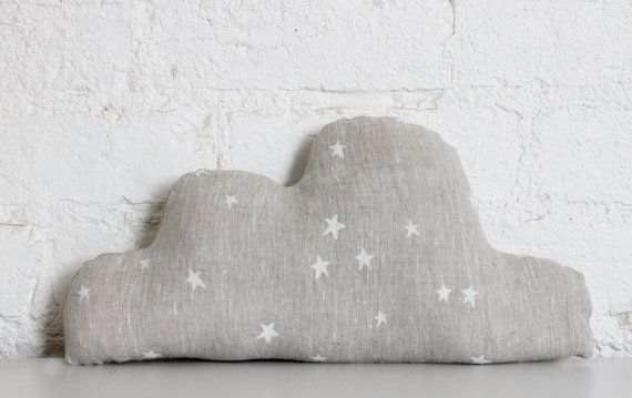 (Linen Cloud Cushion by hellomilky on Etsy)
