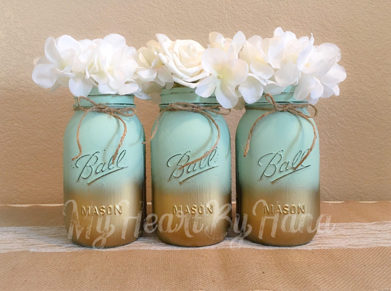 Gold First Birthday Glitter Mason Jar Wedding Decor Babyshower Decor Gold Mason Jar Babyshower Ideas Gold Centerpieces