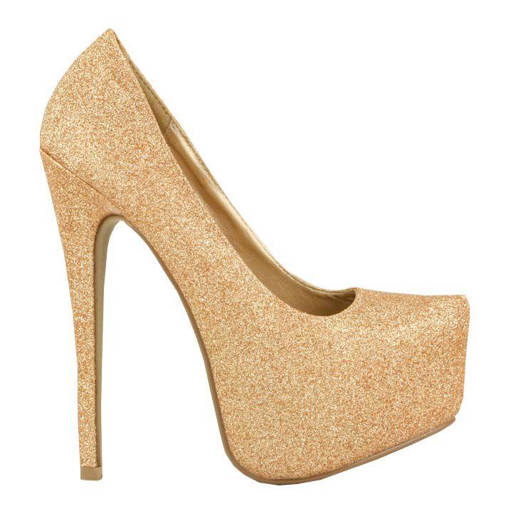 f2debe6b1f20 Champagne Glitter Platform Embellished Platform shoes