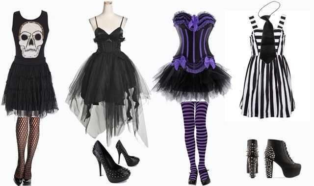 look fantasia de halloween vestidos