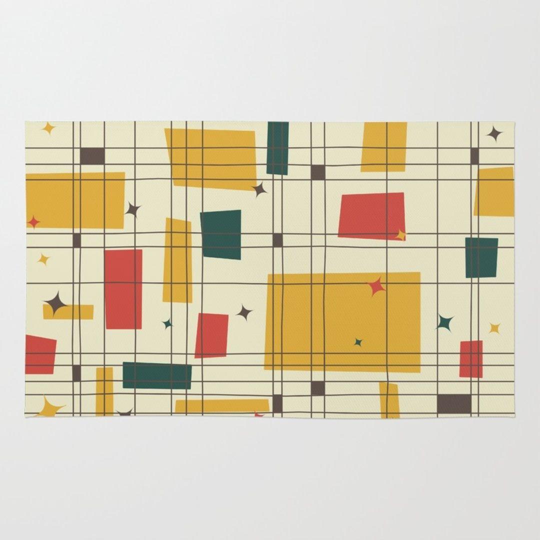 Modern Design : Mid Century Modern Graphic Design Patterns Craftsman ...