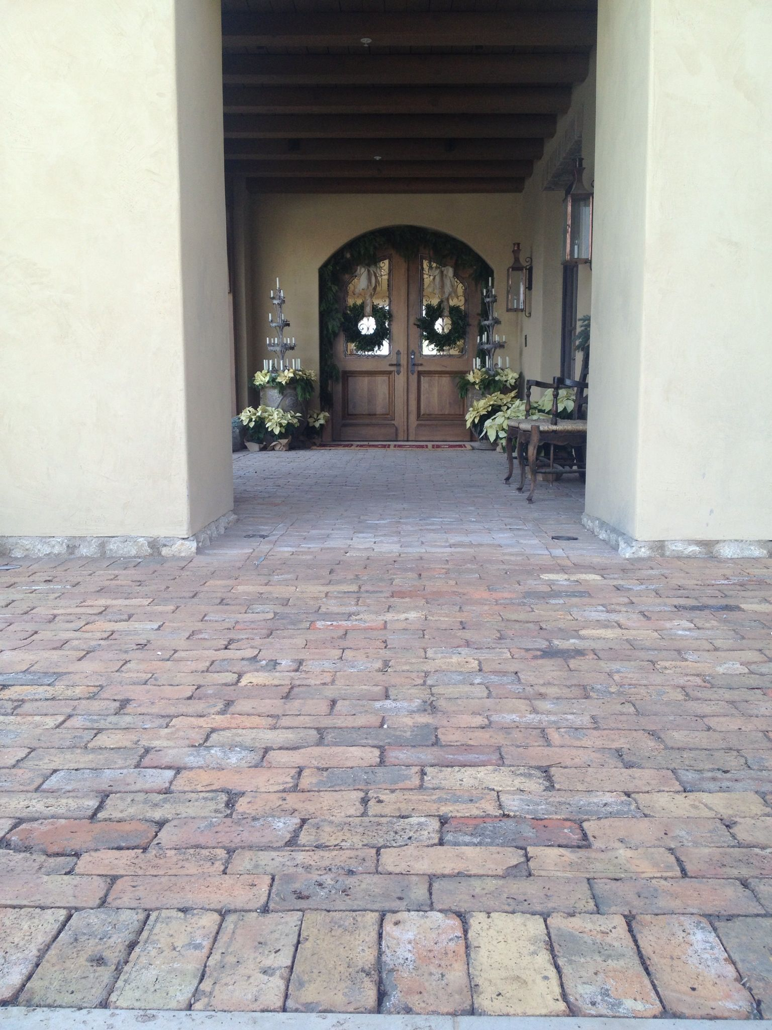 Reclaimed Old Chicago Brick Paver Entry