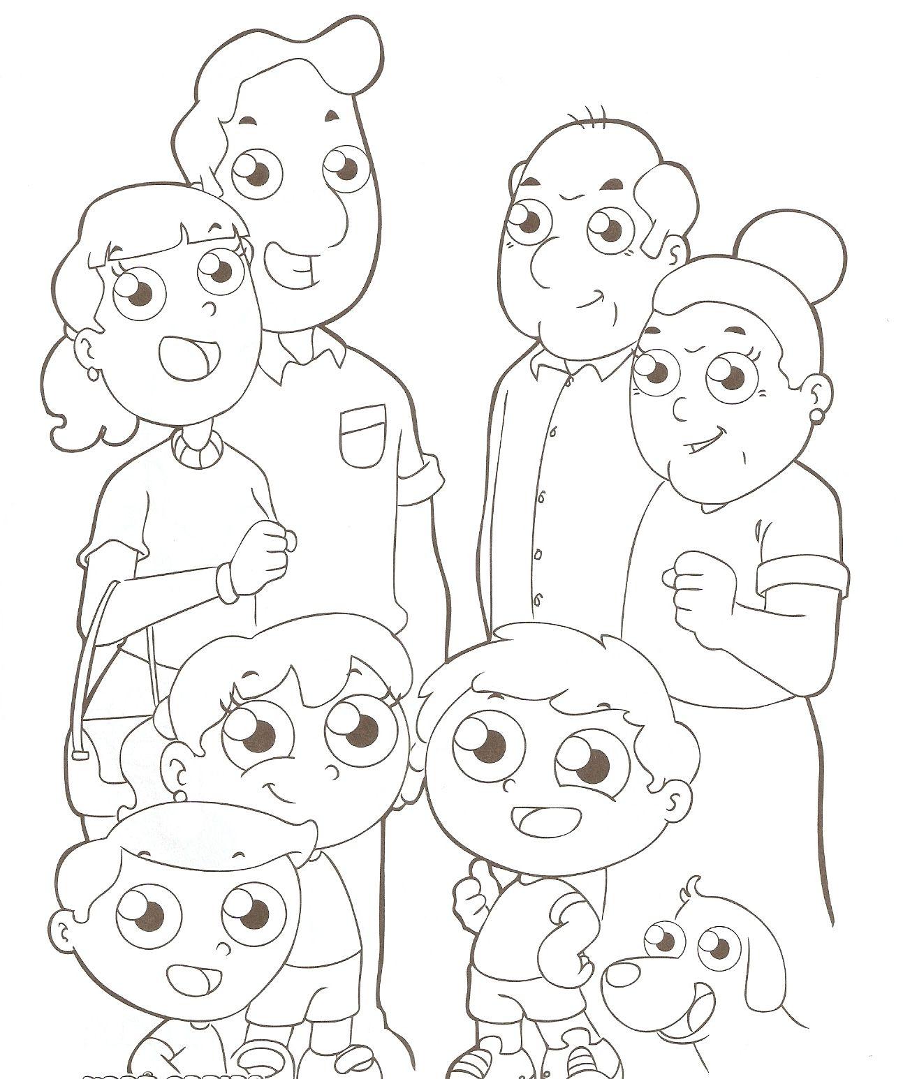 Desenhos Para Colorir Familia Para Colorir Com Imagens Dia