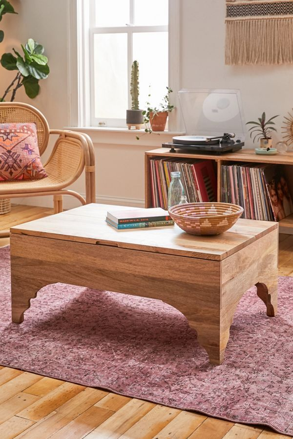 Urban Outfitters Caroline Washed Wood Coffee Table Scandinavian