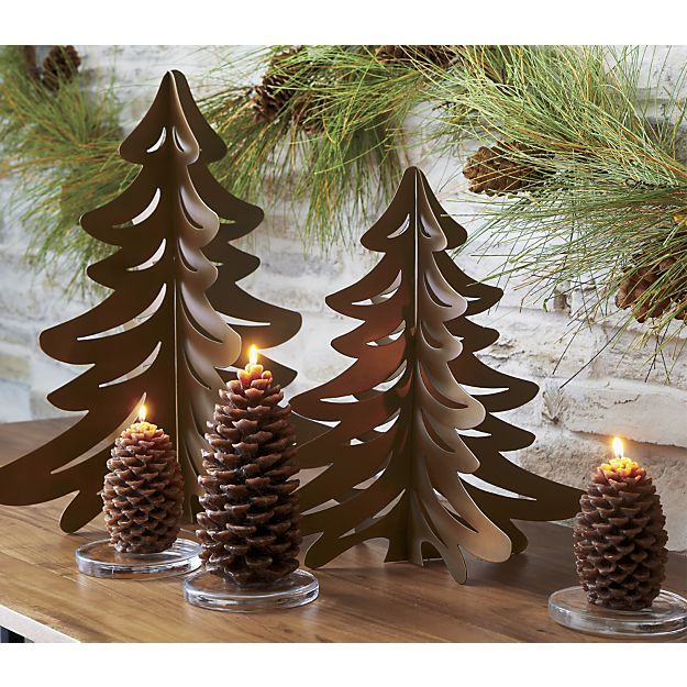Small Pinecone Candle Metal Tree Wall Art Tree Wall Art Diy Glass Candle Plate