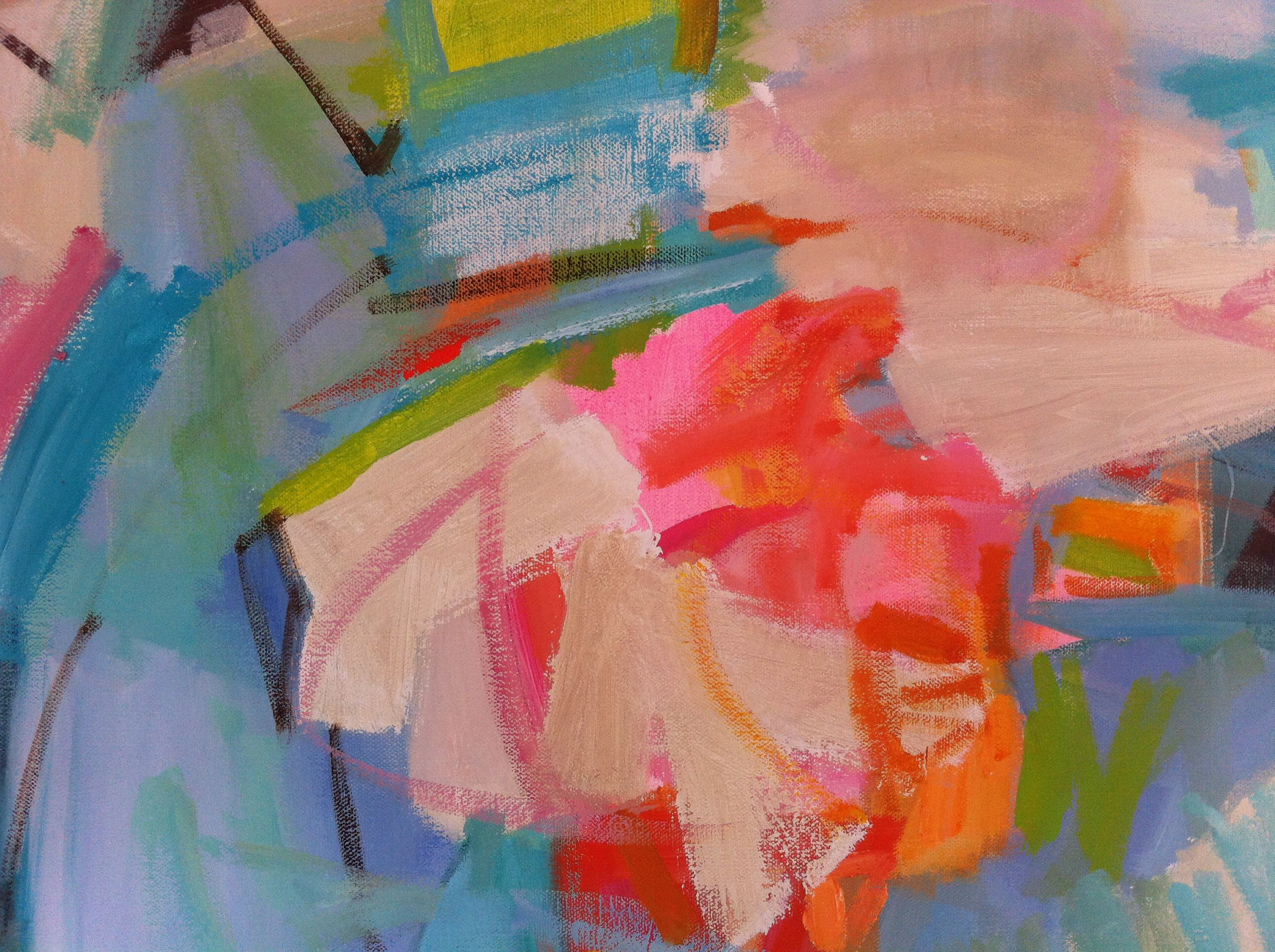 Detail of a reagan geschardt painting