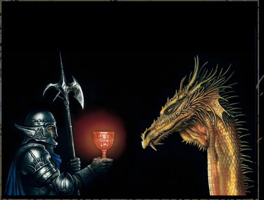 GOLDEN DRAGON  Illustration from The Book of the Dragon by Ciruelo  COPYRIGHT CIRUELO