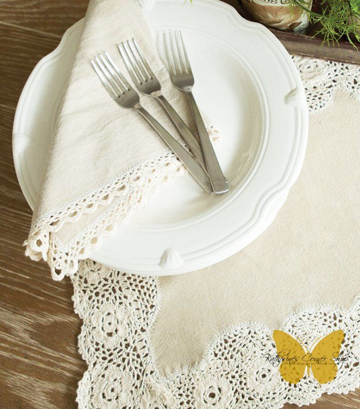 Blue Ribbon Winner Crochet Edge Napkins Contests In 2018