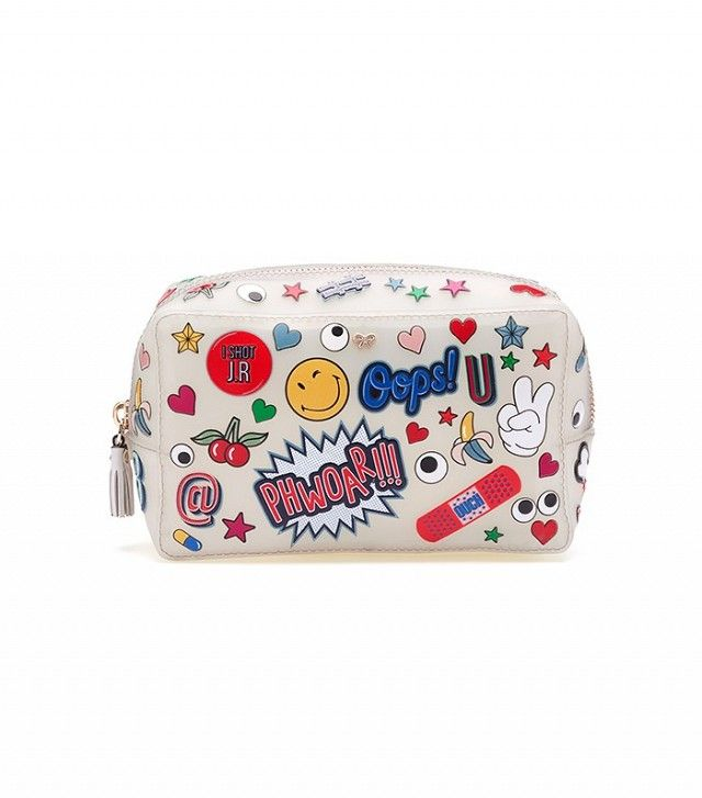 Anya Hindmarch All Over Sticker Rubber Make-Up Pouch