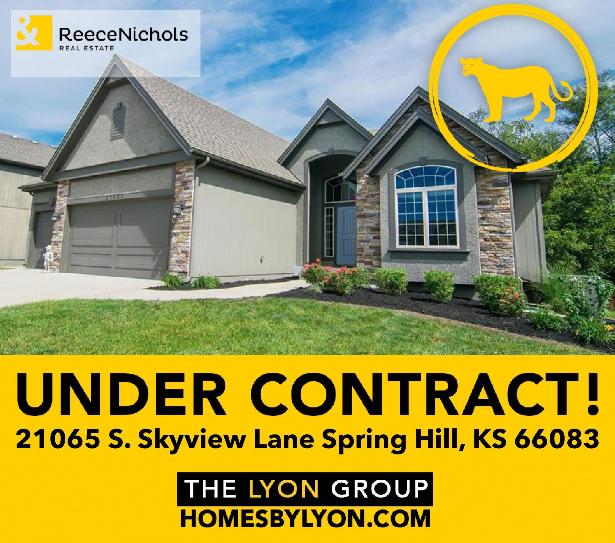 Under Contract 21065 S Skyview Lane Spring Hill Ks 66083 We Are Thrilled For Our Happy Seller Congrats Sandy In 2020 Spring Hill Springhill Beautiful Homes