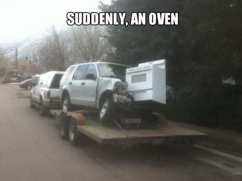 Suddenly An Oven Roliga Bilder Funny Och Roliga Saker