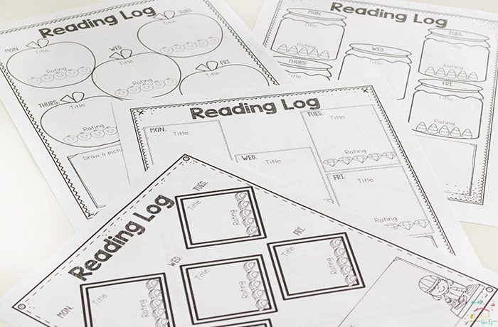 Themed Reading Logs Get Kids Excited About Reading